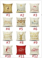 Christmas New Year gift pillowcase Merry Christmas elk snowflake design sofa cushion cover car waist pillow case 149styles RRD11289
