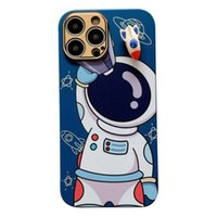 iPhone 13 Cell Phone Cases Creative astronaut all inclusive lens rotating cartoon