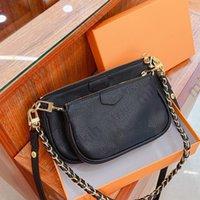 Мода сумка на плечо 2-х частей Набор Лучшие женские сумки сплетенный ремешок дизайн классический логотип узор высококачественной сумки