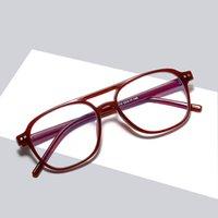 Classical Pilot Designer Optical Frame Simple And Light Plastic Solid Glasses Fashion Sunglasses Frames For Men Women 5 Colors Wholesale