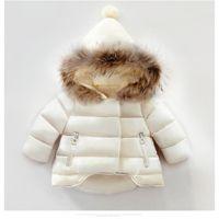 Девушки пальто хлопок теплый пиджак для детских девочек зимний мех с капюшоном пальто Детская верхняя одежда детская одежда малыша девушка куртки 813 v2