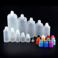 E-liquide bouteille d'huile vides bouteilles de gouttes de gouttes en plastique 3ml 5 ml 10 ml 15 ml 20 ml 30 ml 50 ml de 100 ml 120 ml avec capuchon enfant en gros