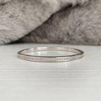Charm Moissanite Diamond Bracelet Women Bridal 100% Real 925 Sterling silver Wedding Bangle Tennis Party Jewelry