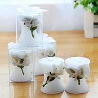 Candles 20pcs lot Cylindrical Lily Candle Wedding Party Birthday Souvenir Gift Scented