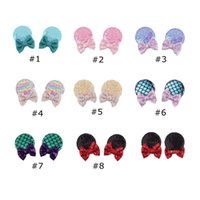 Baby bow Sequins Shining Hair Clips Colorful Pins For Girls Hairpin Kids Headwear Cute Barrettes Gift Headpiece