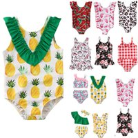 Swimwears Summer Swimsuit for Little Girls Toddler Baby Bikini Suit Fruits Print Ruffles Swimsuits Swimwear Bathing