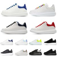 Fashion Leather ACE 3M Platform Sneakers Women Men Casual Shoe Flat Trainers Triple White Reflective Red Pink Black Suede Yellow Topshop999