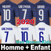 2020 Francia camiseta de fútbol GRIEZMANN MBAPPE POGBA KANTE Manga larga nacional hombres niños mujeres 2022 France soccer jersey football shirt