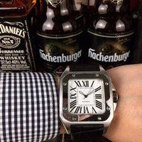 U1_DROPSHipping-2021 Top Hot Watches 40 мм Нержавеющая сталь Часы Кожаный ремешок Автоматическое движение Механический Серебряный Чехол Мужские Часы Спортивные наручные часы