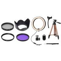 Установить объектив капюшон + ультрафиолетовый фильтр CPL FLD (52 мм) 1 селфи кольцо Light 6 дюймов светодиодная лампа с 50 штатив