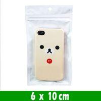 500 stks 6 * 10 cm Samll Clear White Pearl Plastic Poly Opp Verpakking Tassen Zipper Lock Retail Pakketten Sieraden Voedsel PVC Bag Hang Gat Package Pouches