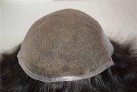 Spitze Toupee für Männer Menschliches Haarsystem Nicht chirurgischer Ersatz gegen Haarbad mit natürlichem Haaransatz