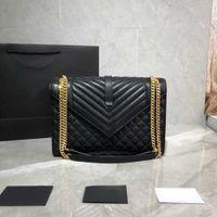 7a + designers 2021 Style Femmes Sacs Sacs Caviar Importé Caviar Caviar Texture résistant à l'usure Très atmosphérique Noir avec sacs en or