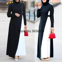 Ethnic Clothing Abaya Dubai Muslim Dress Women Djellaba Kaftan Moroccan Eid Mubarak Black White Dresses Turkey Islam Ladies Gown 2021