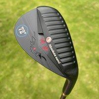 2021 Новый гольф клинья кованые ЧПУ измельчают 52 56 60 64 68 72 Степень с черными стальными валами гольф-клубы песочные клинья