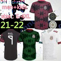 حجم S-4XL المكسيك كرة القدم الفانيلة كوبا أمريكا camisetas 20 21 تشيتشاريتو لوزانو دوس وضيرادو 2021 قمصان كرة القدم الرجال + أطفال مجموعات كيت