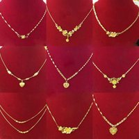 2021 Plated Imitation Jewellery, Xuping 24k Gold Jewelry New Design Dubai Women's Fashion Chain Necklaces