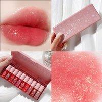 Lip Gloss 10 Cores Veludo Matte Líquido Batom High Color Rendering Lightweight Sleeweight Long Waterward Lips Maquiagem