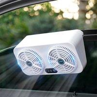 Car Ventilator 2 Fan Exhaust Fan Universal Car Radiator USB Vehicle Window Windshield Cooling Fan Air Purifiers Eliminate Smell
