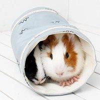 إمدادات الحيوانات الصغيرة الهامستر الحيوانات الأليفة القط لعبة الحفر ثقوب في القنفذ نفق غينيا خنزير للحيوانات الأليفة سرير كافيا