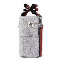 Cestas de suspensão Worthbuy Saco de almoço térmico portátil bolsas de feltro sólido sacos de sacolas com tinfoil para mulheres crianças piquenique acampamento conjunto