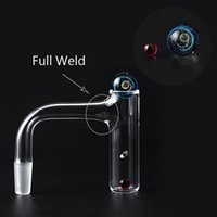 High Quali Smoking Accessories Full Weld Beveled Edge Quartz Finger Banger With 6mm ruby, 14mm Glass Universe Caps For Water Bongs Dab Rigs Pipes