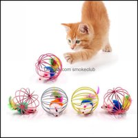 Cat Home & Gardencat Toys Interactive Toy Scratch Ball Simated Mouse Rat Mice Cage Plastic Artificial Colorf Kitten Teaser Pet Animal Suppli