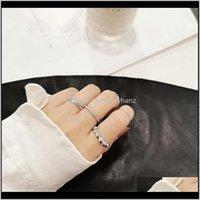 Групповая доставка ювелирных изделий Доставка 2021 2021 Винтаж Sier Gold Color Mini Knuckle Rings для женщин 7 шт. / Комплект Наборы Богемное геометрическое витое кольцо DIKCN