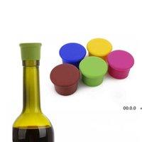 500 sztuk Wielokrotnego użytku Silikonowe Wino Piwo Top Butelka Czapka Korek Korek Wygaszacz Uszczelniacz Wybrzeża Kuchnia Kuchnia Bar Narzędzia RRE10347