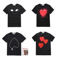Высококачественные мужские футболки, женские вершины, печать любви вышивки, пары случайные моды, мужчины и женщины с одним и тем же стилем CJ0201