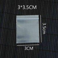 1000 adet 3x35 cm Temizle Kalın Zip Kilit Kılıfı Geri Dönüşümlü Mini Plastik Kilitli Sevimli Charms Küpe Takı Ambalaj Torbaları