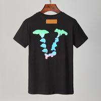 Летняя мужская футболка 2021 повседневная мужчина женские свободные тройники с буквами Печать с короткими рукавами Топ продажа модных мужчин футболки размер M-XXXL