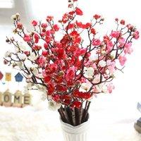 매화 벚꽃 인공 실크 꽃 Flores 사쿠라 나뭇 가지 홈 테이블 거실 장식 DIY 결혼식 장식