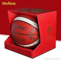 Molten Fiba China 2019 Баскетбол Кубок мира Баскетбол BG3340 Размер 7 Крытый открытый PU Professional игра Баскетбол Подарочная коробка Школьные принадлежности
