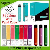 Puff Plus одноразовые устройства E Cigarettes Pod Starter Kit 320mah аккумуляторная батарея 3.2Мл картридж Vape пустой ручка PK Posh Fast Ship