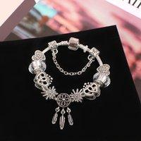 Pandora Strands bracelet high quality Heart Glass Beads Dream Catcher silver alloy jewelry
