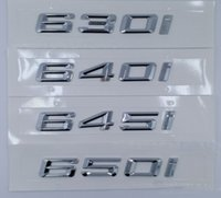 Car-Styling 630i 640i 645i 650i Trunk Letter Car Stickers Emblem Badges Discharging Logo for B-M-W 6-Series E63 E64 F12 F13 chrome
