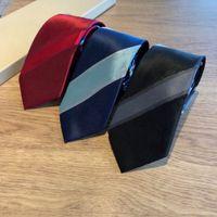High-end Ipek Kravat Moda Tasarım Erkek Iş İpek Bağları Boyunback Jakarlı İş Kravat Düğün Boyunworktv22A