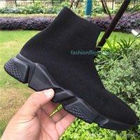 2020 Neue Arrivlas Paris Speed Trainer von rotem Triple Blackyezezyys flach original luxus designer sneakers schwarz weiße beiläufige schuhe