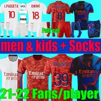 Mailleot De Foot 2021 2022 Olympique Lyonnais Soccer Jerseys L.Paquetá Men Kids Set 21 22 Lyon Toko Ekambi Bruno Cherki Aouar Football Kit Shirts Fans Player