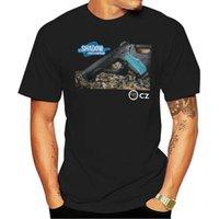 Men's T-Shirts T Shirt Black T-shirt Fashion Mens CZ 75 Shadow S-3XL Men Women Cartoon Casual Short O-neck Broadcloth Cn(origin)