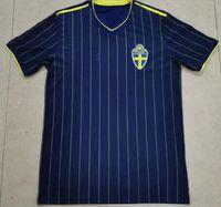 Suède Personnalisé 21-22 10 Ibrahimovic 9 Berg Thaïlande Qualité Jersey Soccer Shirts Custom 10 Forsberg Horsping accepté Yakuda Meilleur sport