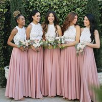 New Arrival Bridesmaid Dresses with Split Two Pieces Long Prom Dress Formal Wedding Guest Gowns Custom Made
