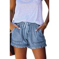 Sky Blue Casual Casual Pocketd Denim Jeans De Jeunes Plus Taille Bandes Élastique Pantalones Vaqueros Mujer Femme High Taille Pantalon 2XL