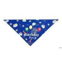 Домашние животные день рождения треугольник шарф собака поставки милый мальчик девушка слюна головы носить реквизиты щенка кошек вечеринка костюм hwc7245
