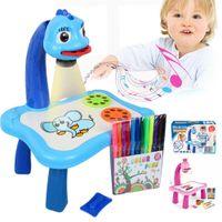 الأطفال diy التعليمية التعلم المبكر الموسيقية الإسقاط لوحة الرسم الجدول مكتب لعبة أدوات الطلاء الاطفال هدية