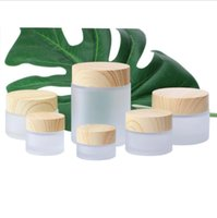 5g 10g 15g 30g 50g 100g Frosted Glass jar bottles Empty Cosmetic Makeup Face Cream Containers With Plastic Cap