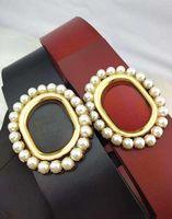 Belt Fashion women Buckle wide 7cm Seven holes Genuine Leather For Letter Double men designer belts 100-125CM with box