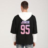 Mens Designer t shirts Bangtan Boys Hoodies Sweatshirts Men Women Korean Jungkook Jimin Kpop Love Yourself Patchwork Harajuku Clothes