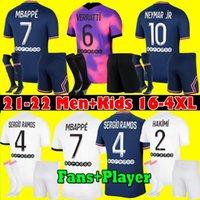 Kids PSG Paris saint germain kits 20 21 Soccer Jersey 2020 2021 Mbappé ICARDI Neymar camisa JR homens crianças conjuntos de uniformes maillot de hommes Paris pé